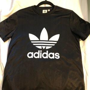 Adidas black trefoil tees